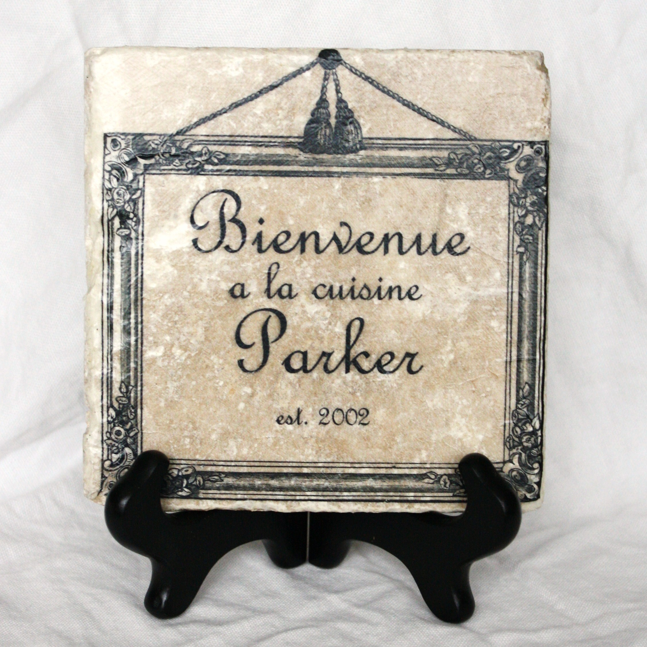 Welcome to the Kitchen, personalized trivet